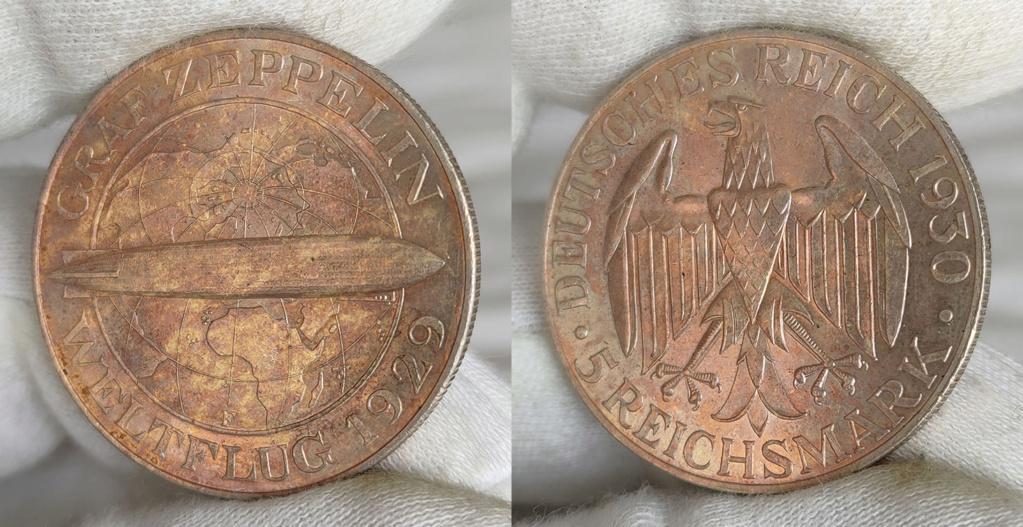 -GRAF ZEPPELIN- 5 marcos 1930 Alemania. 0421