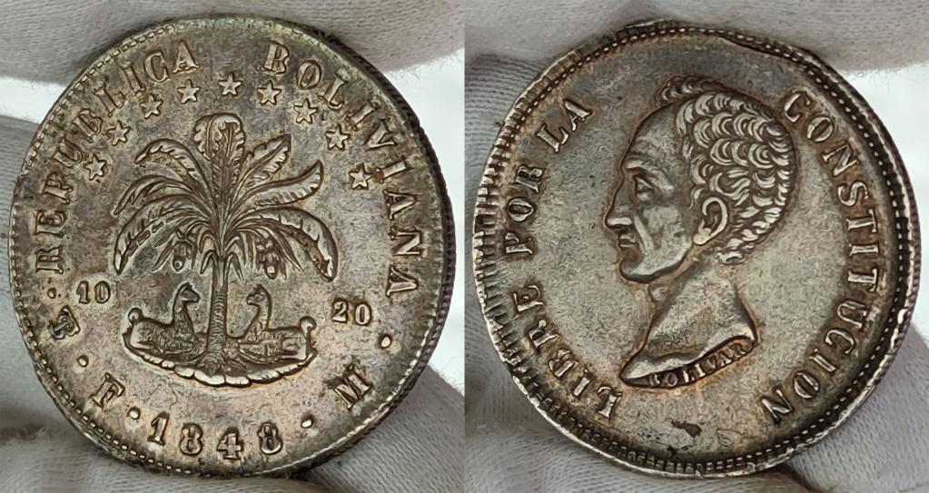 8 soles 1848 Bolivia 0424