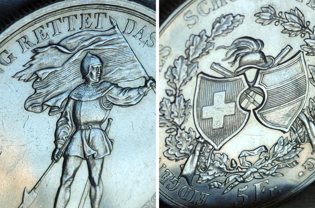 5 francos suizos 1869 Suiza -Shooter Thaler- 0427