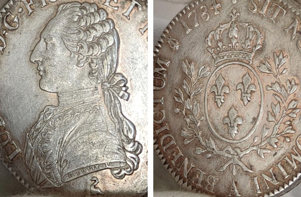 Ecu 1784 Francia Luis XVI 0428