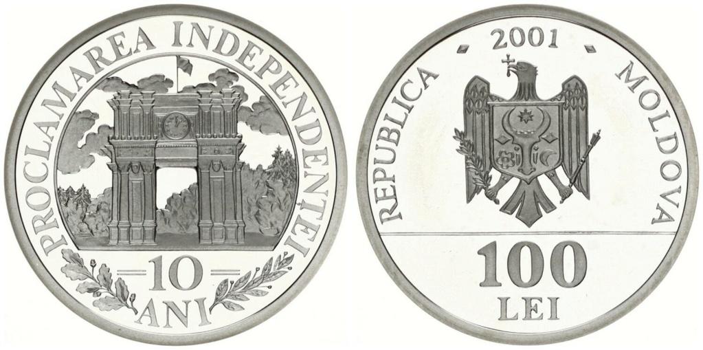 100 Lei República de Moldavia 2001 100_le10