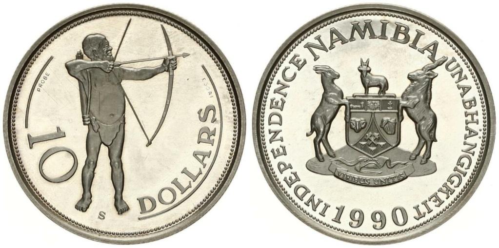 Namibia 10 Dollars 1990 10_dol11
