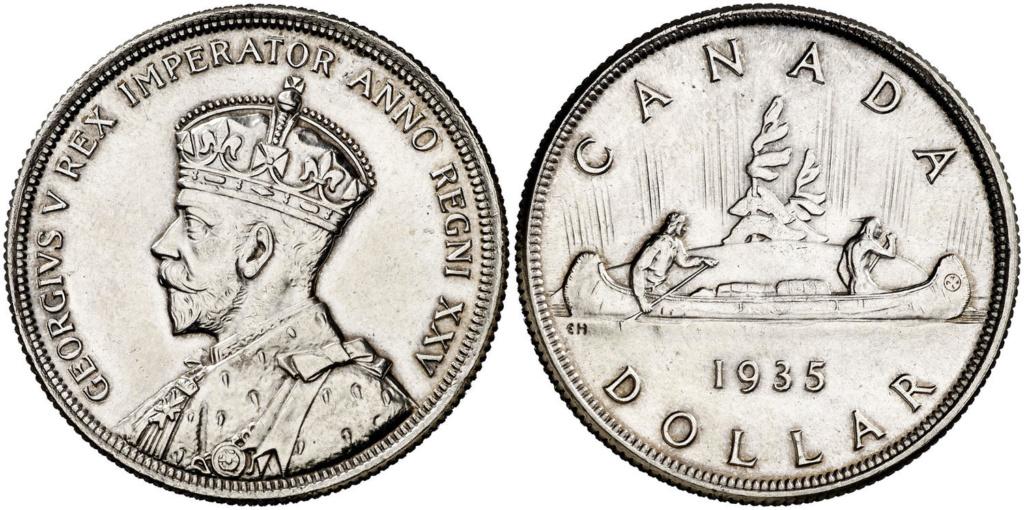 """Voyageur"" Dollar. Canadá 1935 1_dola10"