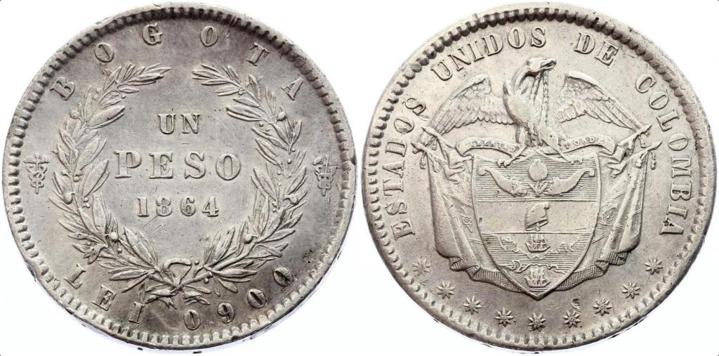 1 peso 1864 Colombia  1_peso11