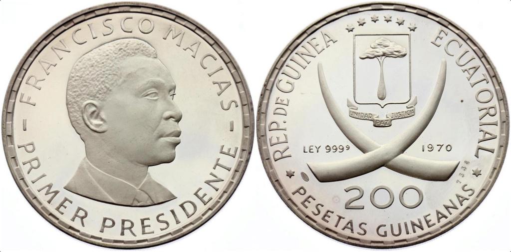 200 pesetas guineanas, República de Guinea Ecuatorial, 1970 200_pe10
