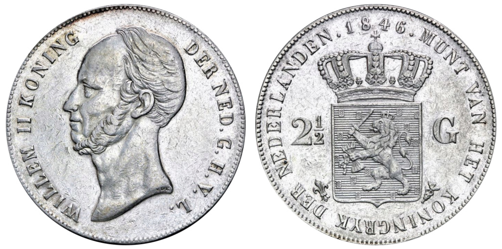 2 ½ Gulden, Países Bajos 1846 2_1_2_14