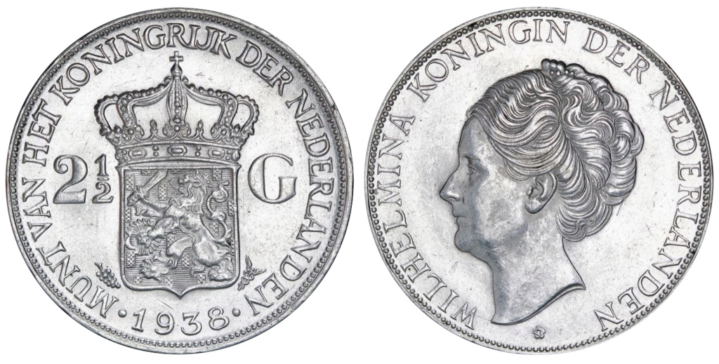 2½ gulden Países Bajos 1938 2_1_2_20