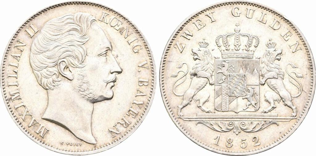 2 Gulden. Reino de Baviera 1852 2_guld11