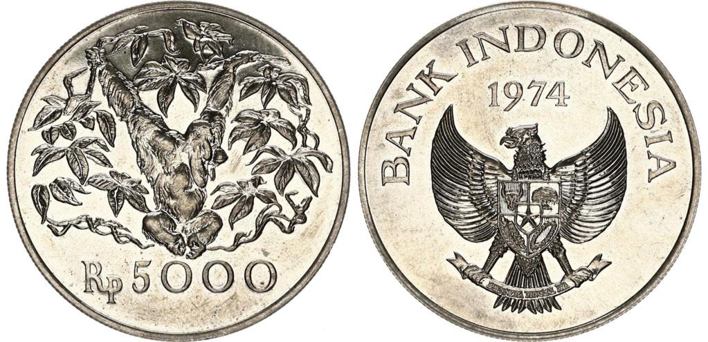 5000 Rupias. Indonesia. 1974 5000_r11