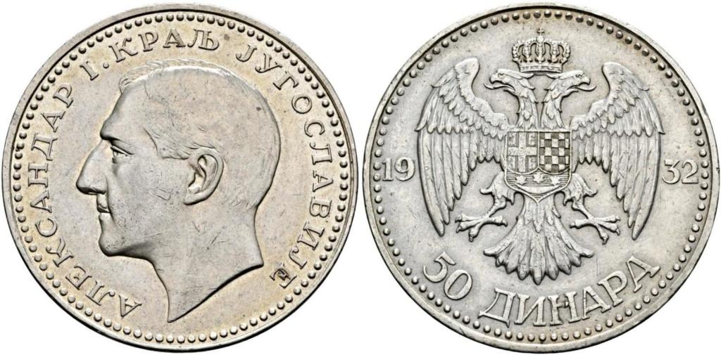50 dinares 1932 Yugoslavia 50_din10