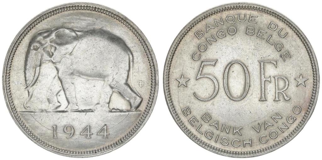 50 francos del -Congo Belga- 1944 50_fra10