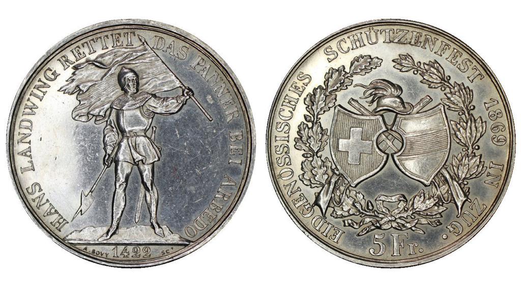 5 francos suizos 1869 Suiza -Shooter Thaler- 5_fran12