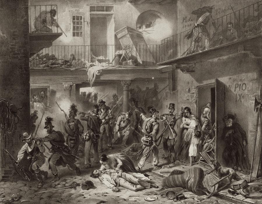 5 Liras 1848 Italia. Gobierno provisional de Lombardía 5_jorn10