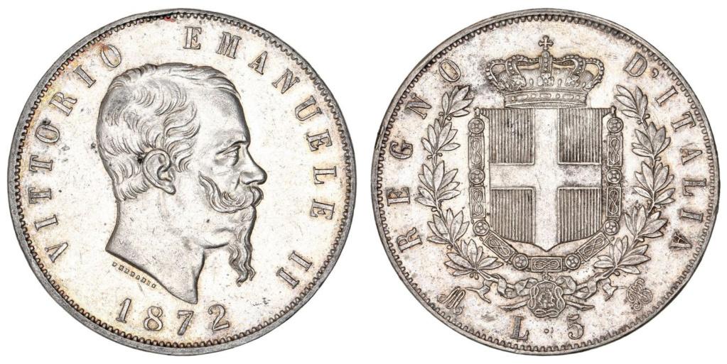 5 liras Reino de Italia 1872 5_lira11