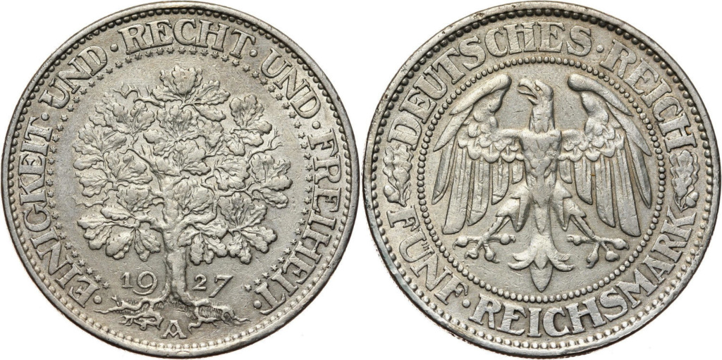 5 Marcos 1927 Rep. Alemania 5_marc10