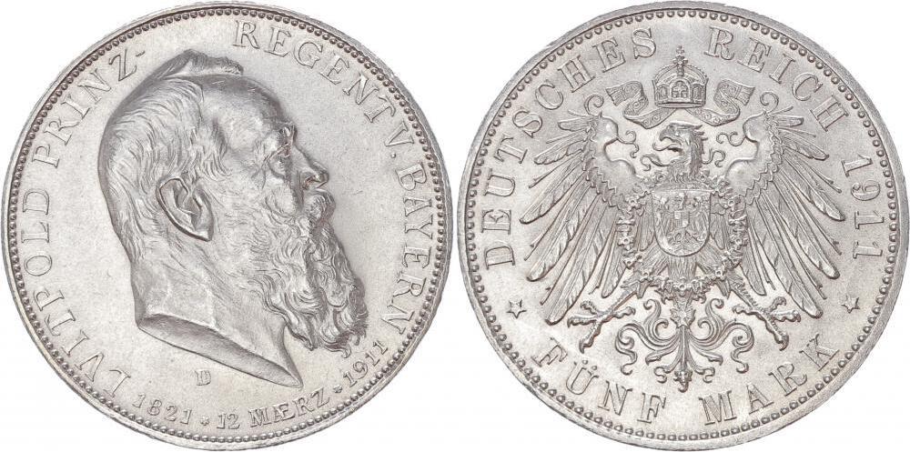 5 marcos  Imperio Alemán 1911 5_marc12