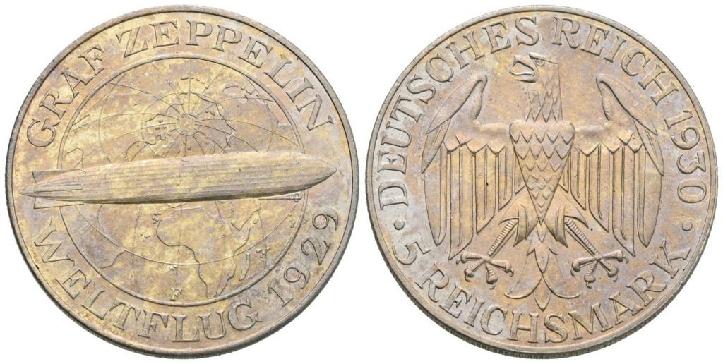 -GRAF ZEPPELIN- 5 marcos 1930 Alemania. 5_marc14
