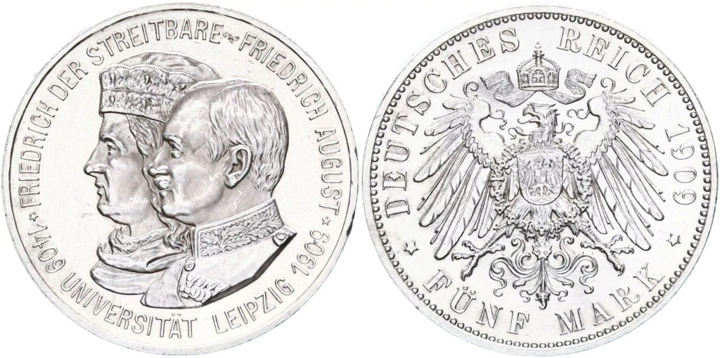 5 marcos. Imperio Alemán 1909 5_marc16