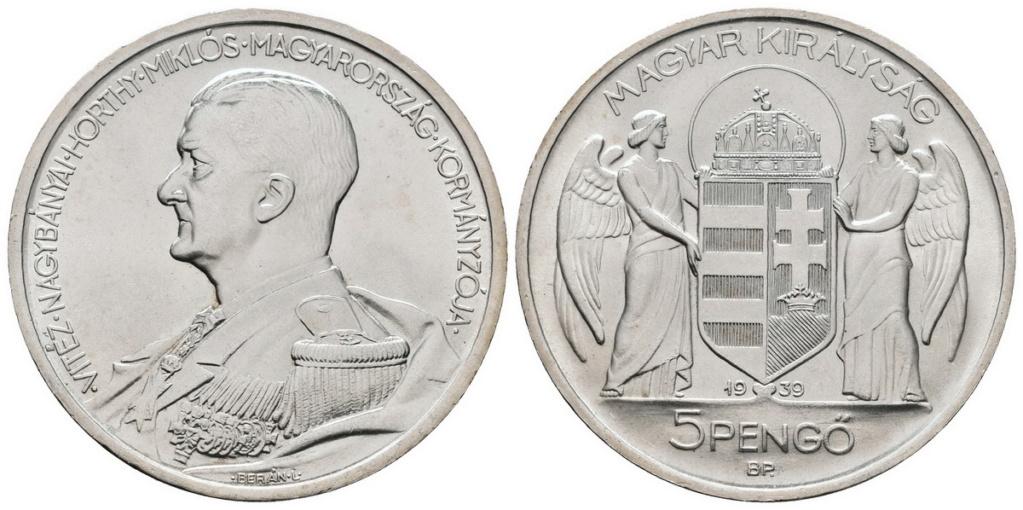 Hungría 5 pengős. 1939 5_peng10