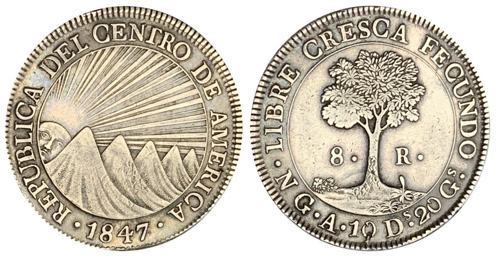 8 Reales Estado de Guatemala 1847 8_real16