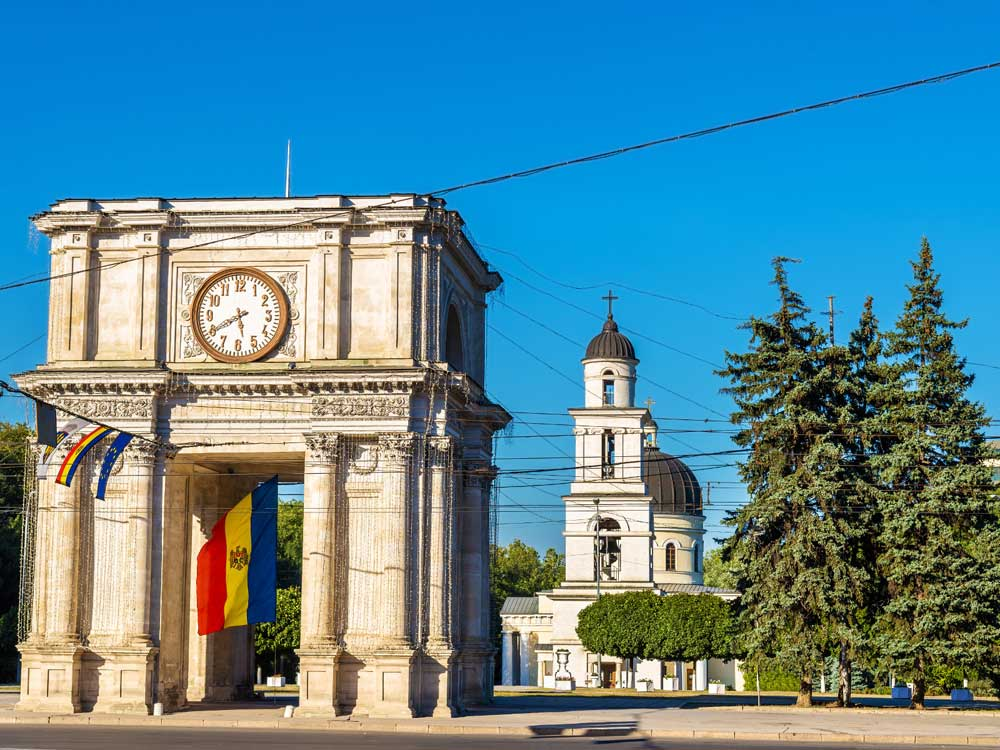100 Lei República de Moldavia 2001 Ciudad10