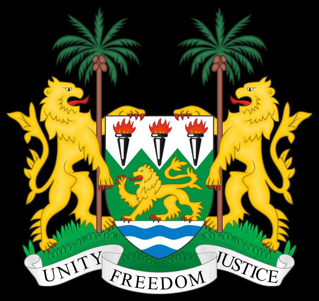 10 dólares Republica de Sierra Leona 1997 Coat_o13