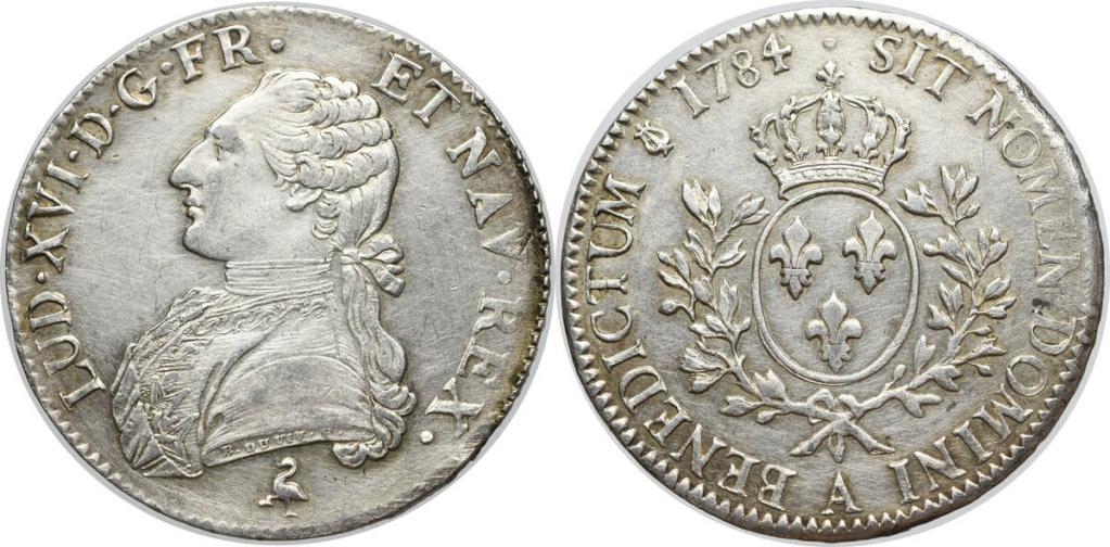Ecu 1784 Francia Luis XVI Ecu_fr10