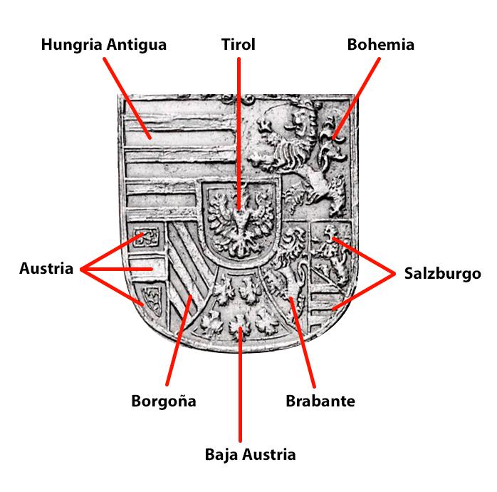La casa de Habsburgo y su escudo de armas  Escudo13