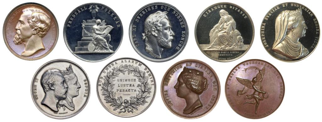 4 Riksdáler Riksmynt 1863. Suecia Medall13