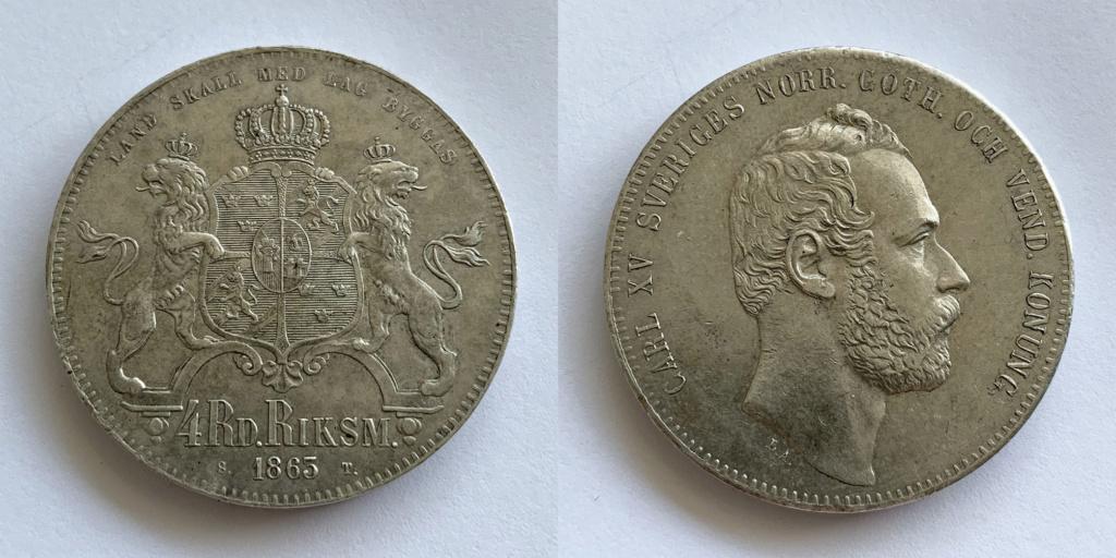 4 Riksdáler Riksmynt 1863. Suecia Riksda10