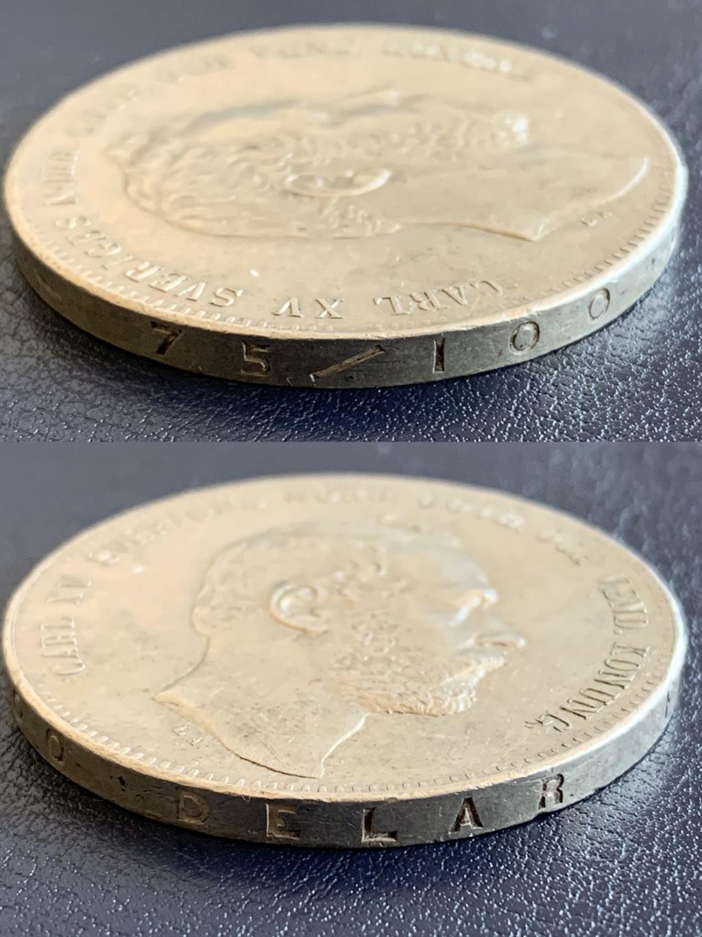 4 Riksdáler Riksmynt 1863. Suecia Riksda11