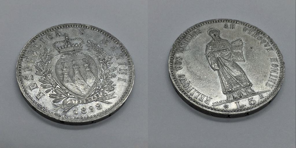 5 Liras San Marino 1898 Sanmar16