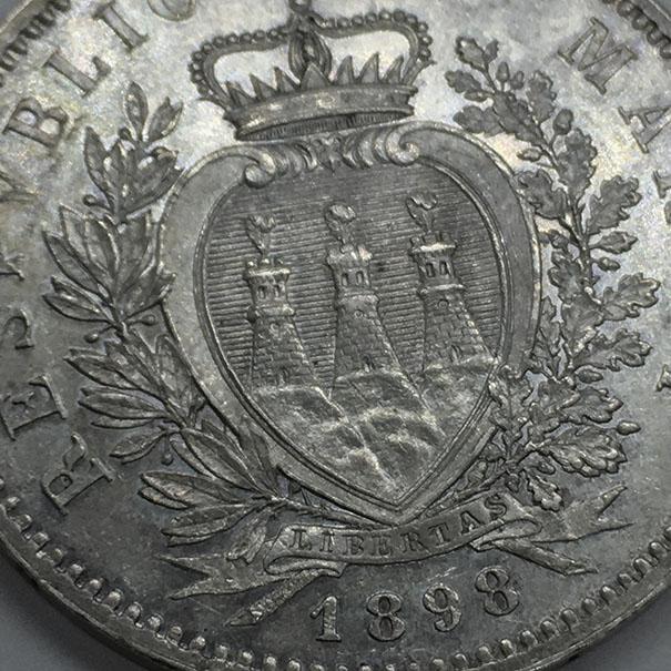 5 Liras San Marino 1898 Sanmar17