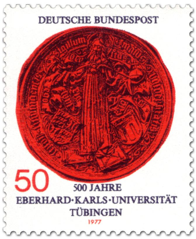 5 marcos 1927 Alemania. 450 aniversario de la Universidad de Tübingen Siegel10