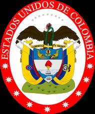 1 peso 1864 Colombia  United10