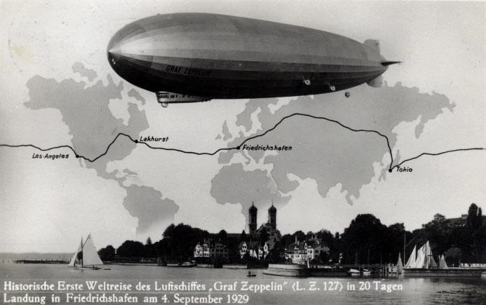 -GRAF ZEPPELIN- 5 marcos 1930 Alemania. Zep_0410