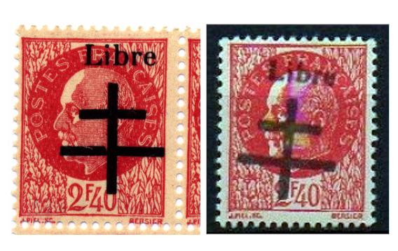 Timbres de la libération d'Aigurande (Oblitérations sur lettre). 2-40_a10