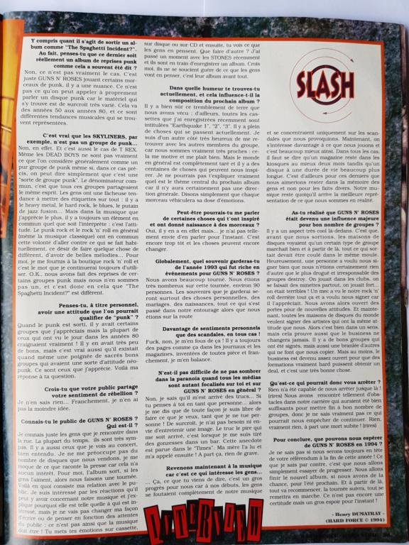 1994.MM.DD - GNR French magazine 1994 Hard Force (hors-serie) P8910