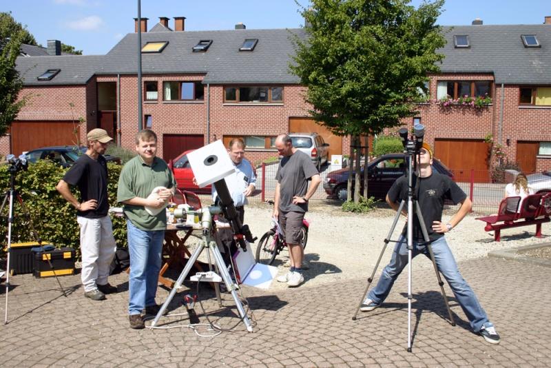 Salzinnes - Observation du soleil le 11/08 110