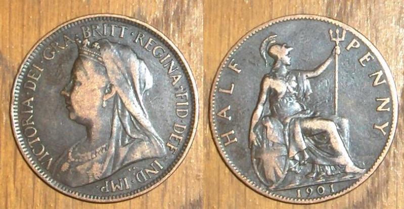 United Kingdom - Half Penny de Victoria I (1837-1901), año 1901 Penny10