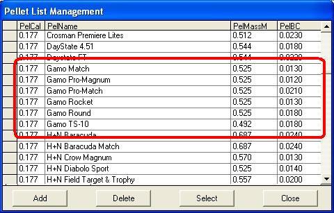 Coefficient ballistique svp pour Plomb Gamo Match... Cb10