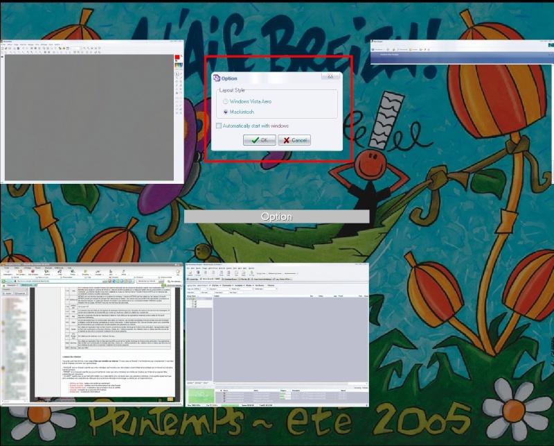 La rotation 3D de Windows Vista sous XP - ShockAero 1.35 Aero210