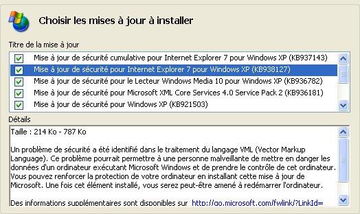 Comité de surveillance des MAJ XP << SP3 >> - Page 4 Majxpk11