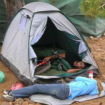 Prendre son Brompton en camping... Femmeo10