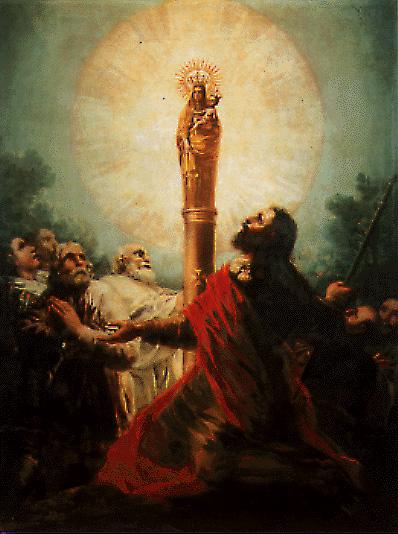 virgen del Rosario / virgen del Pilar - s. XVII-XVIII 10410