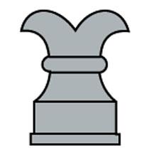 Pinjante lobulado escudo con roque o torre Roque11