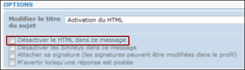 points - Activation du HTML : 3 points de contrôle Tuto410