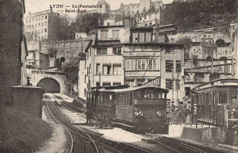 lyon - Lyon, 1950 Funicu10