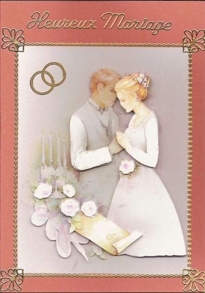Carte de félicitation de mariage. 18510