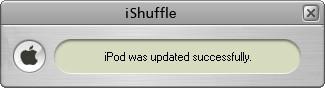 iShuffle 1.1  pour faire la mise a jour d'une ipod 00526212